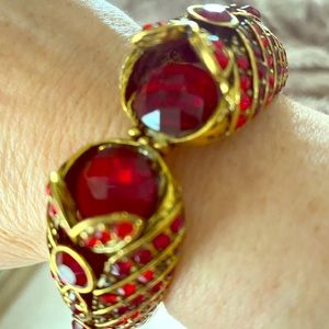 Ruby Red Bling Cuff Bracelet